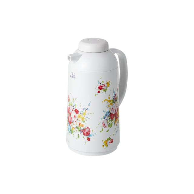 復刻花柄(花化粧)ガラスハンドポット 1.0L 品番:AG-LB10DS