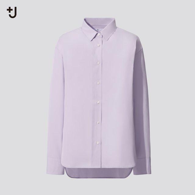 スーピマコットンオーバーサイズシャツ(長袖)