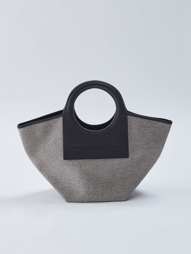 Cala Small Leather-trimmed Canvas Tote - Black