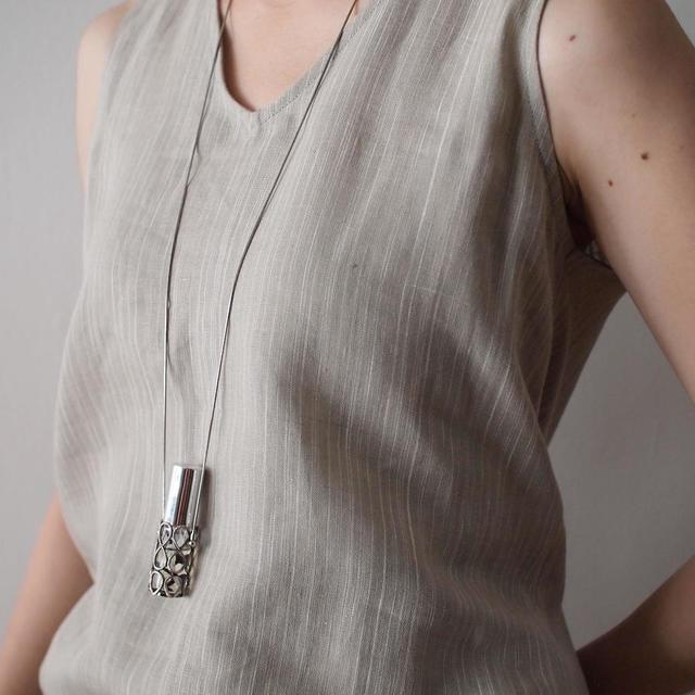 Atomizer necklace / silver
