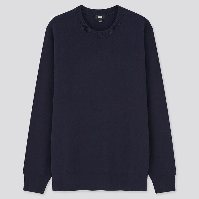 ウォッシャブルストレッチミラノリブクルーネックセーター