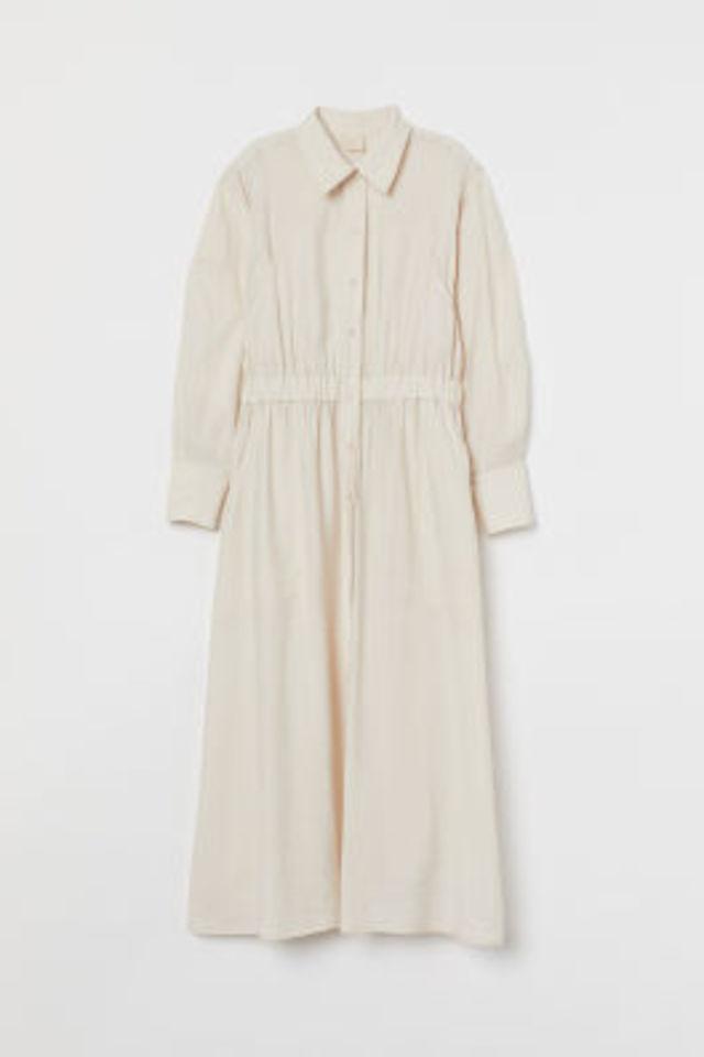 リヨセルブレンドシャツドレス
