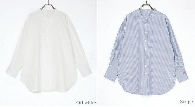 釦バックスリットチュニックシャツ
