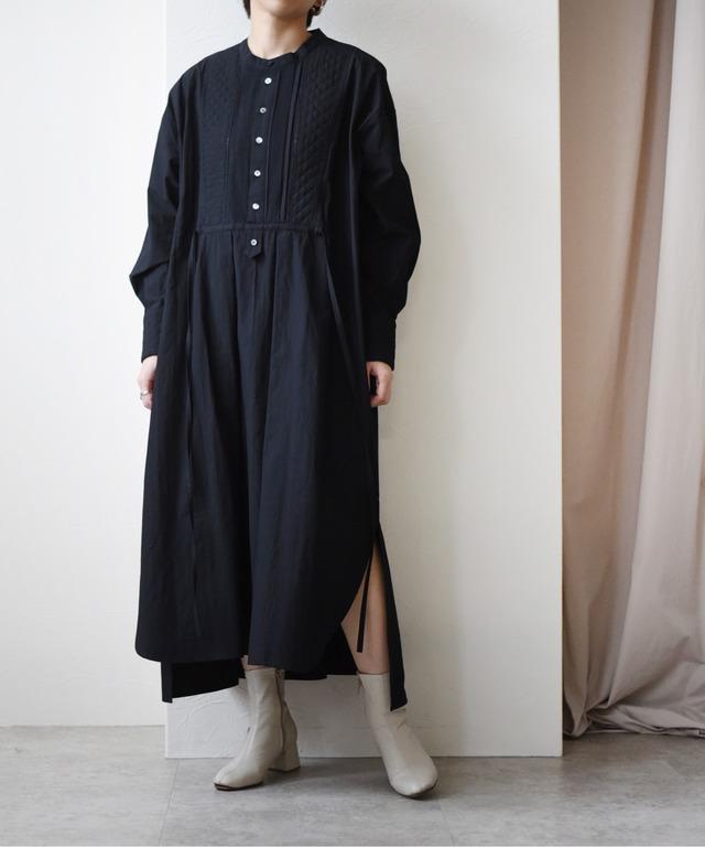 キルトステッチドレスシャツワンピース