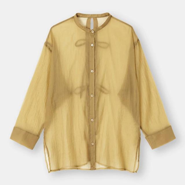 シアーバックリボンシャツ(長袖)+E