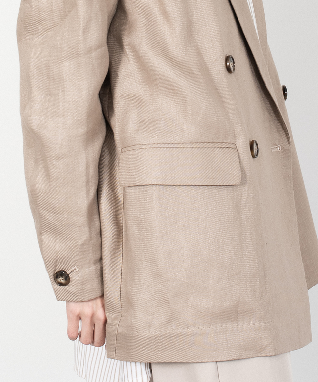 Linen Loose Silhouette Tailored Jacket