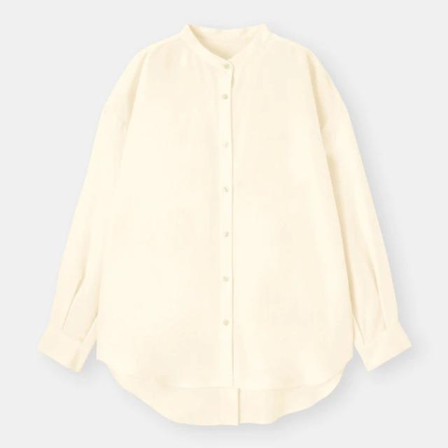 バックスリットボリュームスリーブシャツ(長袖)