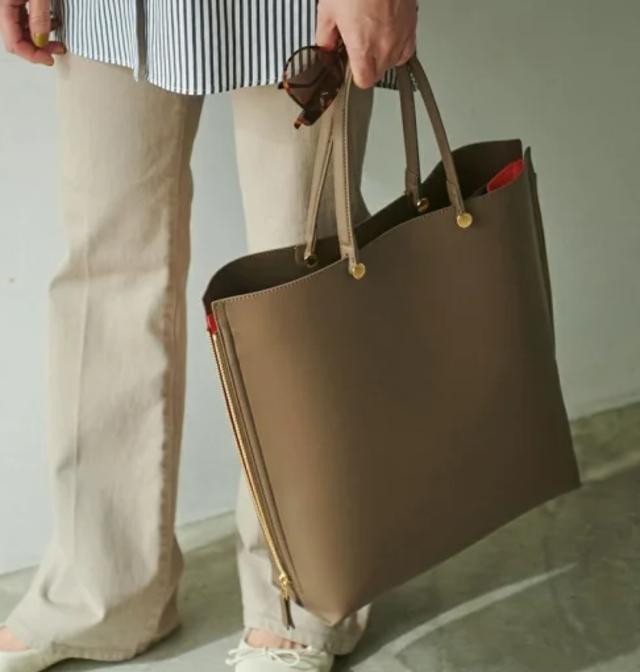 【A4対応】Y bag Large(サイドジップ縦型トートバッグ)