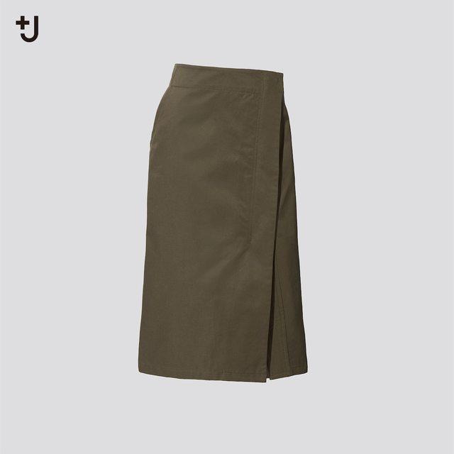 コットンリネンラップスカート