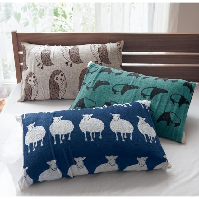 北欧調デザインののびのび枕カバー 「バク」 約43×63cm用