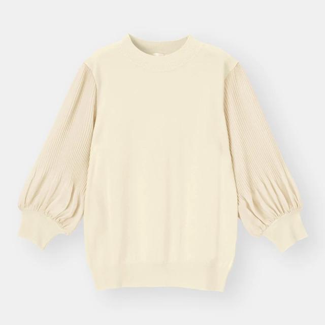 プリーツスリーブセーター(7分袖)Z