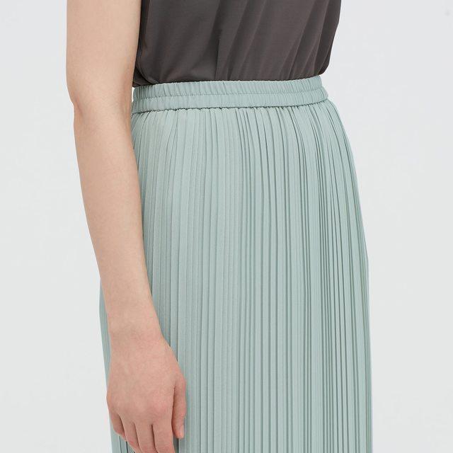 シフォンプリーツナロースカート(丈標準76~80cm)