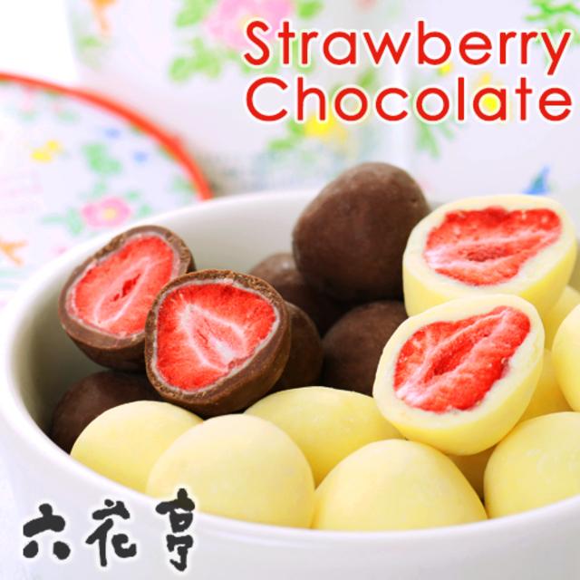 詰め合わせ ストロベリーチョコセット130g×2個セット(ミルク・ホワイト)