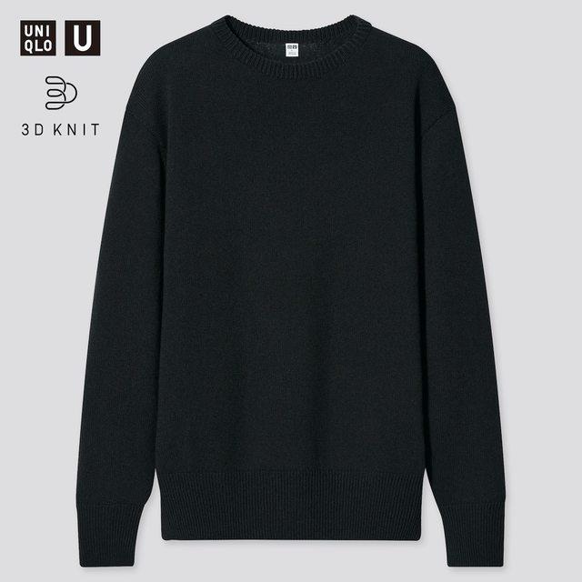 MEN 3Dクルーネックセーター