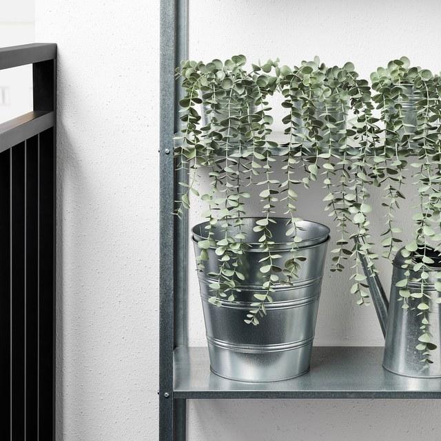 FEJKA フェイカ 人工観葉植物, 室内/屋外用 つり下げ型/ユーカリ