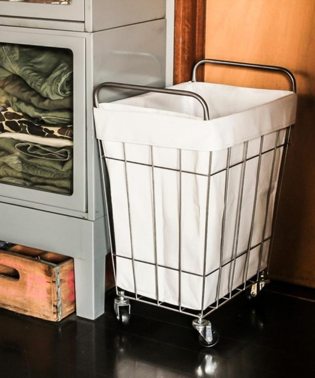 洗濯カゴ スクエア ランドリーボックス