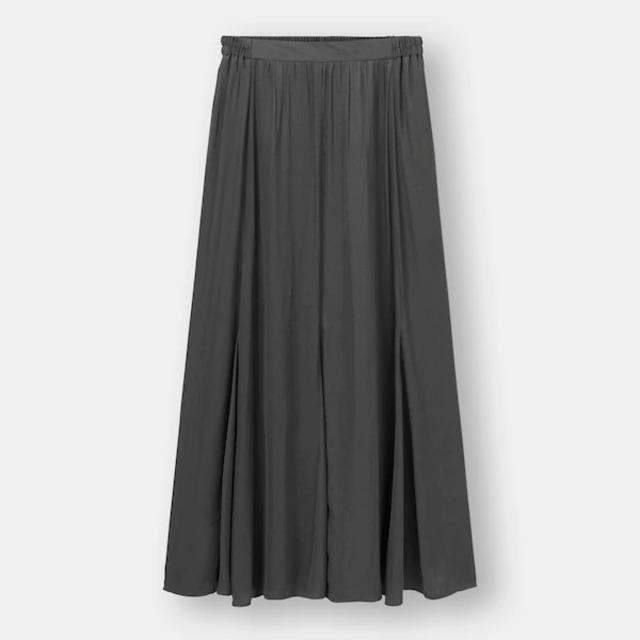 サテンマーメイドフレアスカート
