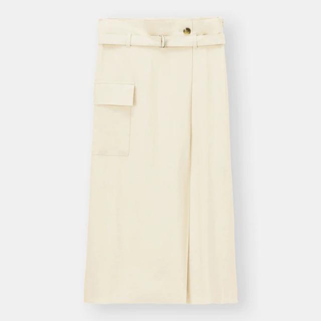 ベルテッドサイドポケットナロースカート