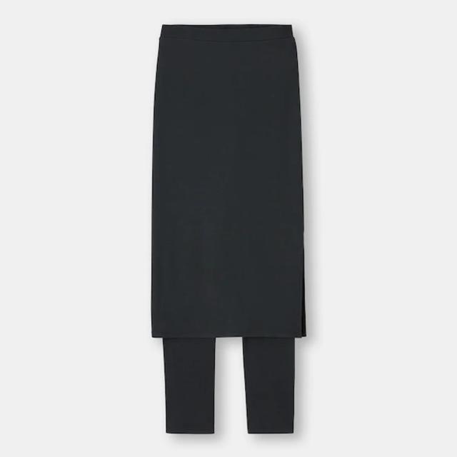 リブレギンス付きスカート