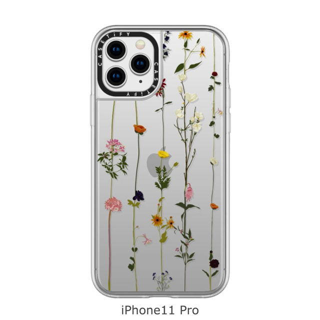 iPhone11 Floral Grip Case クリア