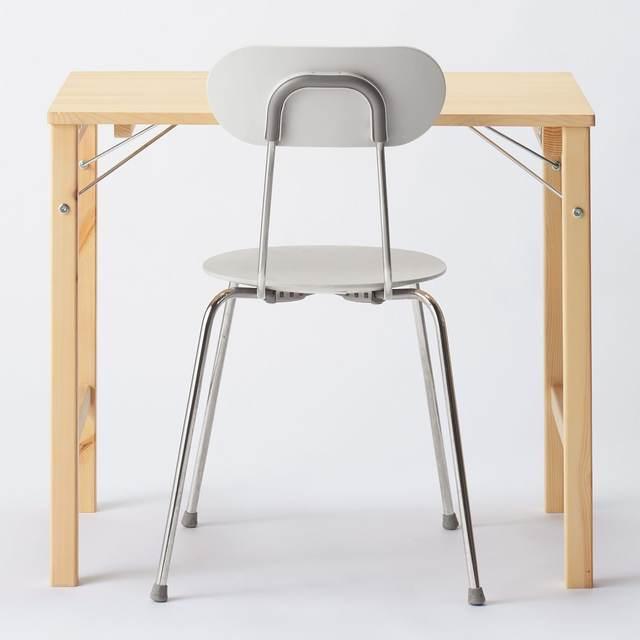 パイン材テーブル・折りたたみ式 幅80×奥行50×高さ70cm