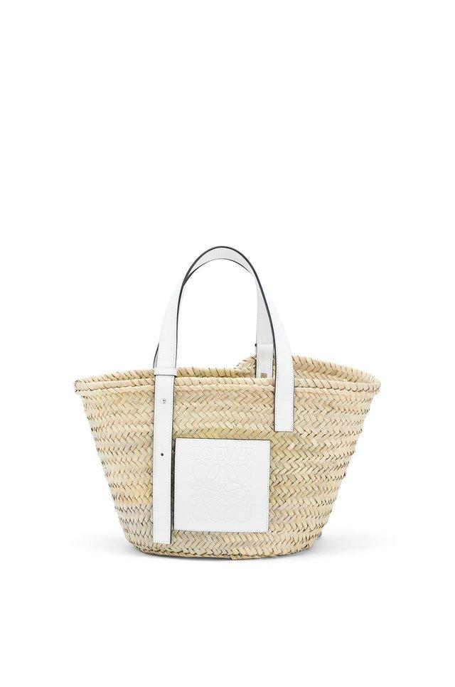 バスケットバッグ(ヤシの葉&カーフ)