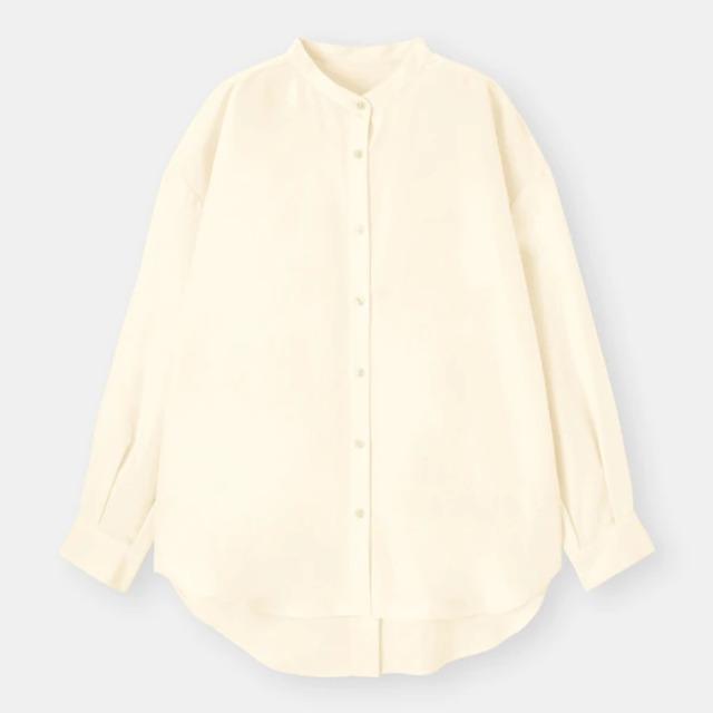 バックスリットボリュームスリーブシャツ