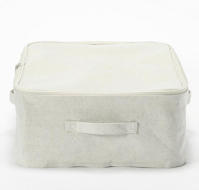 ポリエステル綿麻混・ソフトボックス・衣装ケース 約幅59×奥行39×高さ18cm