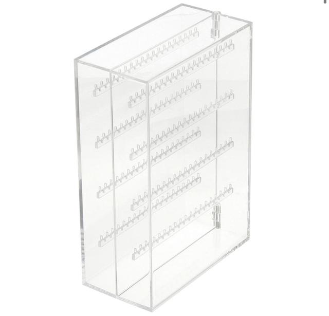アクリルネックレス・ピアスケース・見開きタイプ 約幅17.5×奥行8.8×高さ25cm
