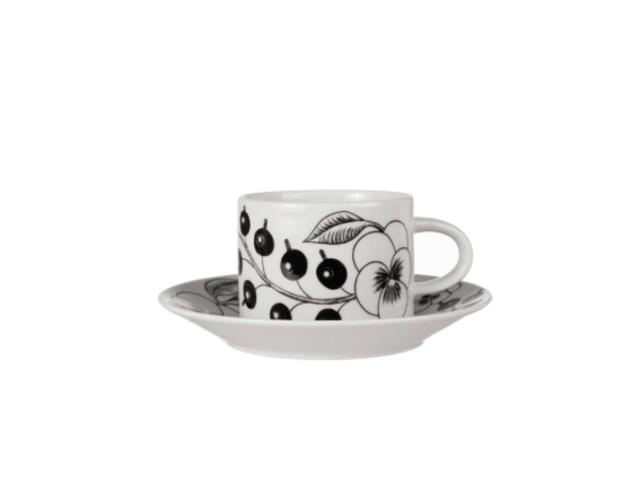 パラティッシ コーヒーカップ&ソーサー ブラック
