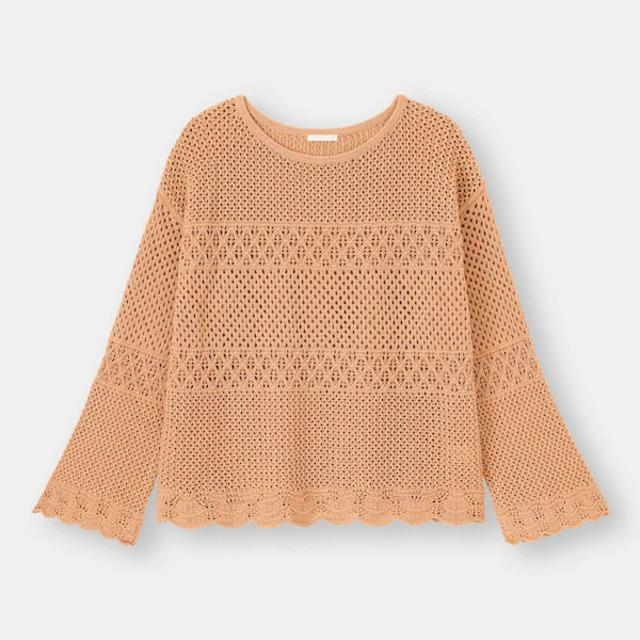 レーシースカラップセーター(長袖)