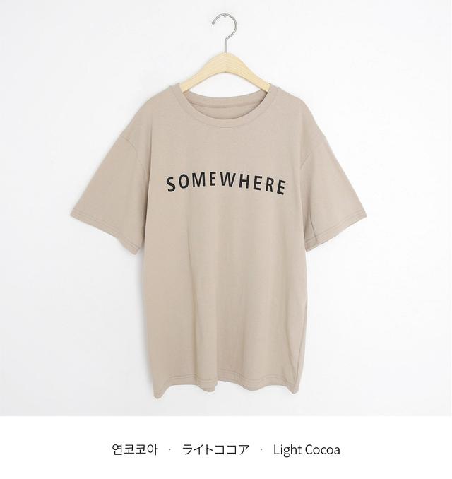 SOMEWHERE半袖Tシャツ