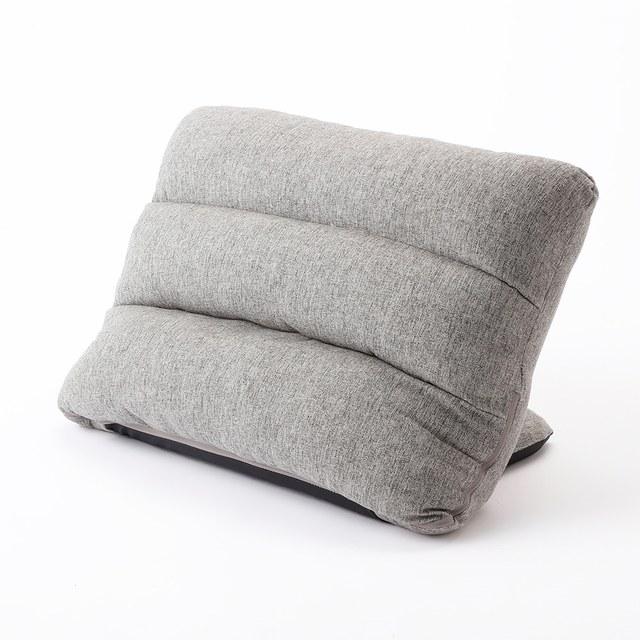 【数量限定】枕にもなる背もたれイス Lepoco グレー