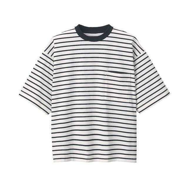 超長綿天竺編みクルーネックTシャツ