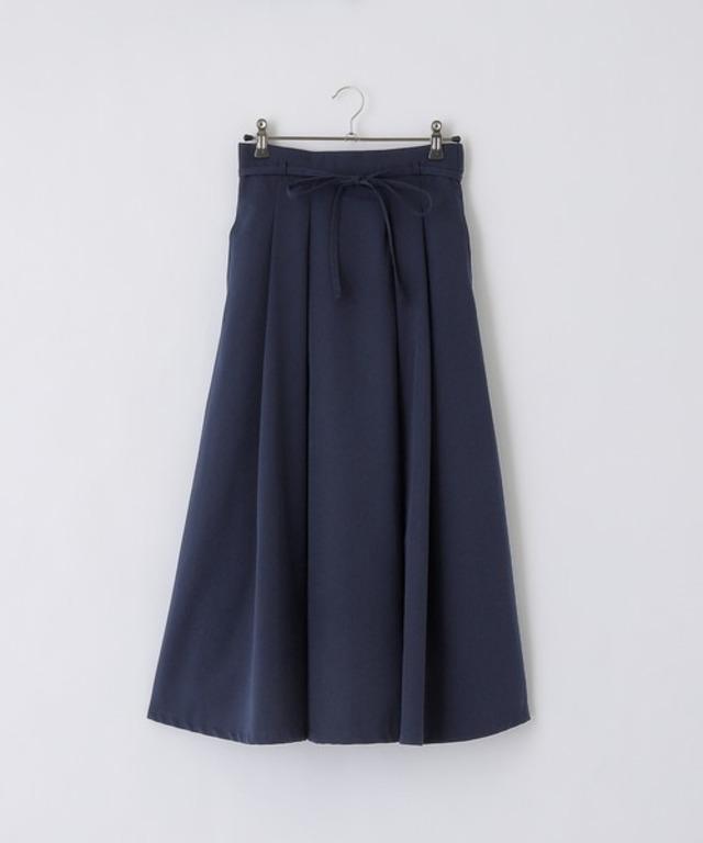 ウェストリボン付き タックフレア スカート
