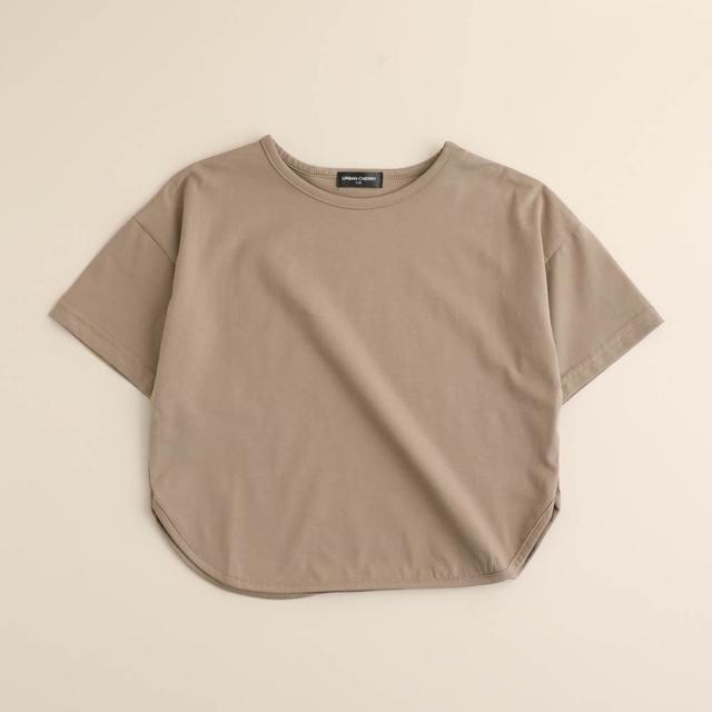 ラウンドヘムカラーTシャツ