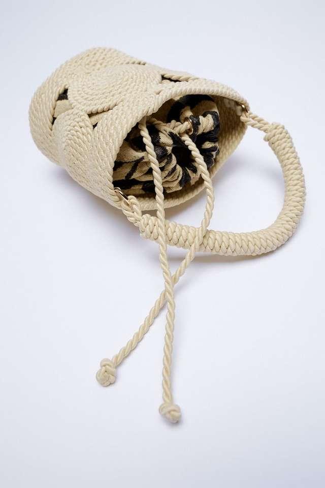 ロープ ミニバケットバッグ