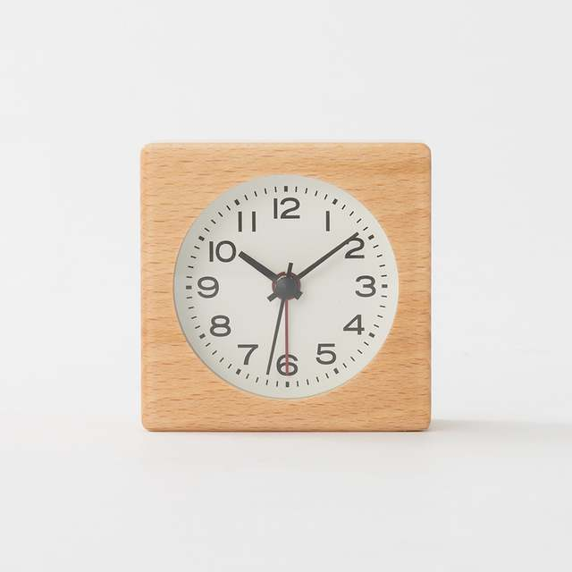 ブナ材時計(アラーム機能付)