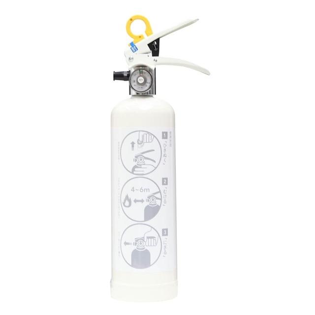 デザイン住宅用消火器 強化液 ホワイト