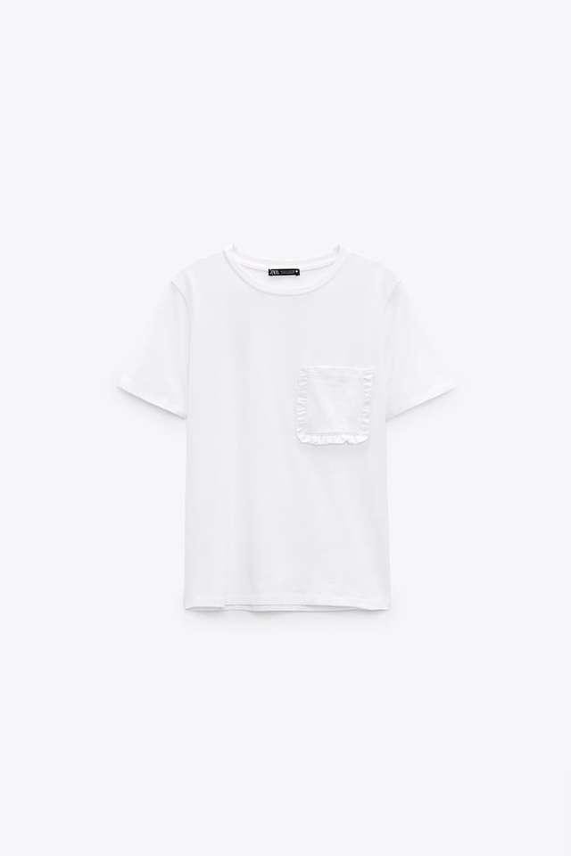 フリルポケットTシャツ