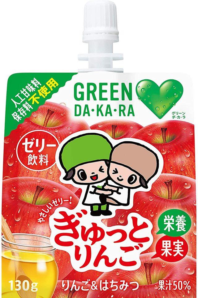 グリーンダカラ やさしいゼリー ぎゅっとりんご (130g ×6個)