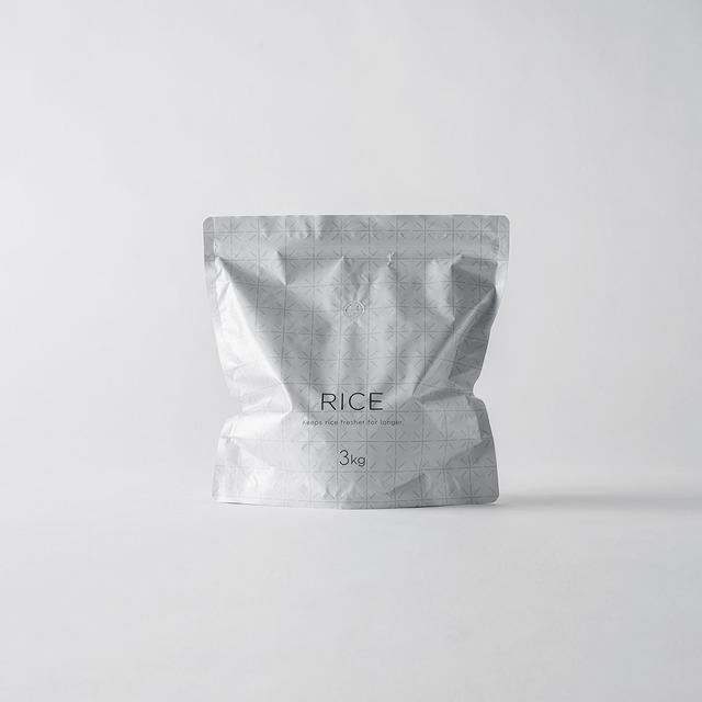 極 お米保存袋(3kg袋×2枚入り)