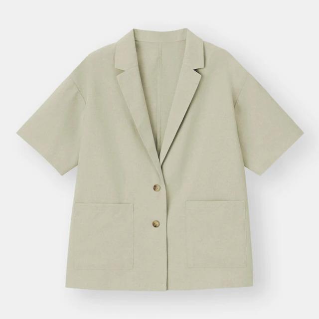 ライトオーバーサイズシャツジャケット(5分袖)