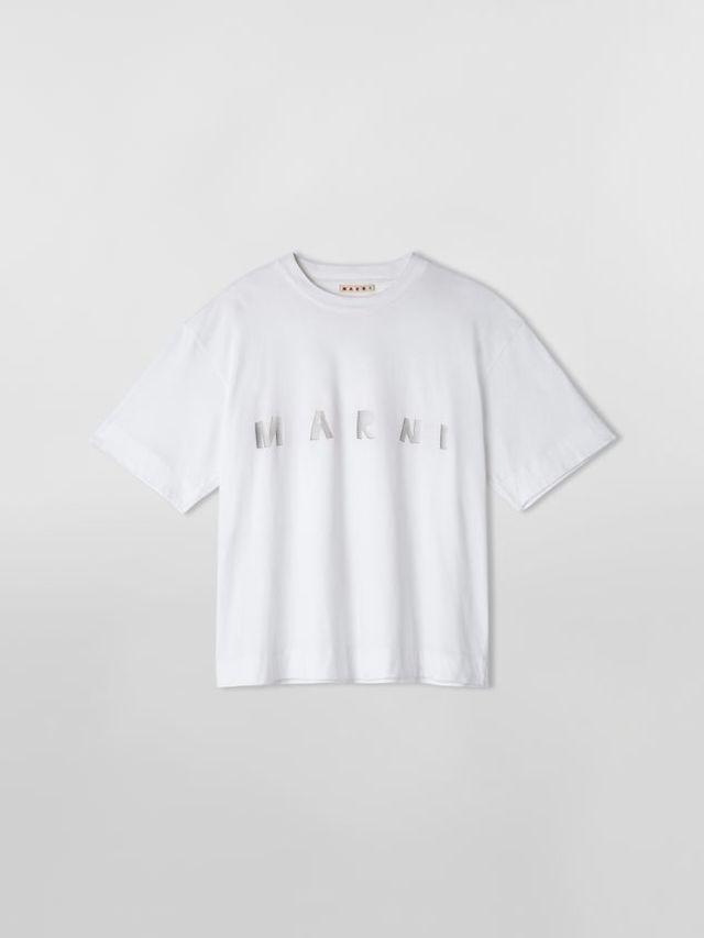 コットンジャージー オーバーサイズTシャツ MARNIプリント