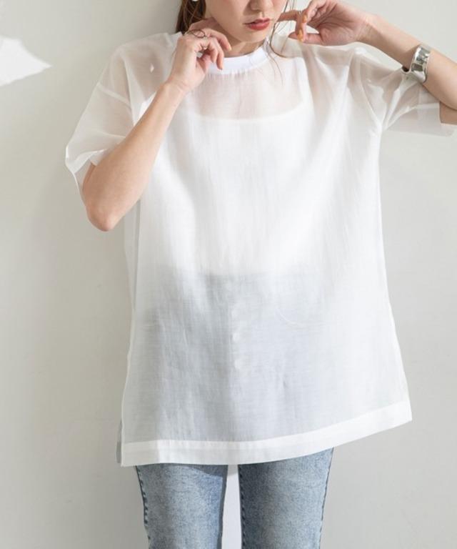 シアーチュニックブラウスTシャツ