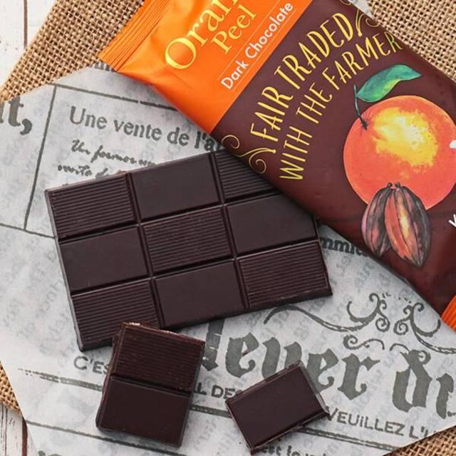 フェアトレードチョコレート オレンジピール 53g