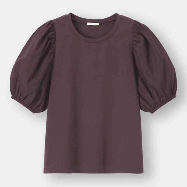 布帛コンビネーションボリュームスリーブT(5分袖)