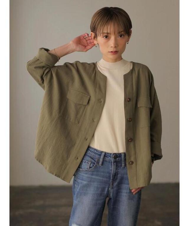 コットンワークシャツジャケット