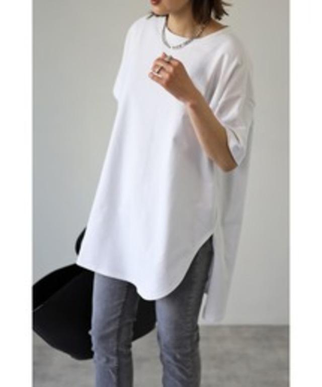 コットンサイドスリットTシャツ