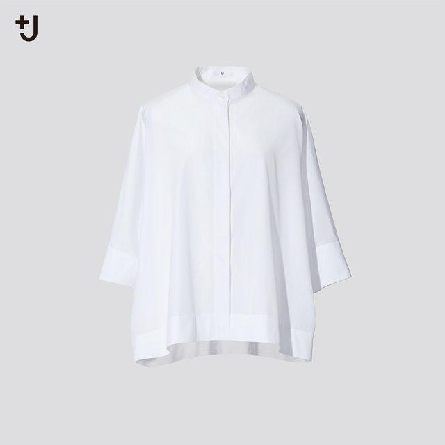 スーピマコットンドルマンスリーブシャツ(7分袖)